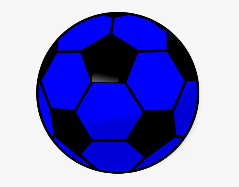 Soccer Ball Blue Clip Art.