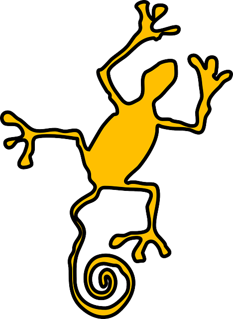 Free vector graphic: Lizard, Yellow, Curly, Tail.