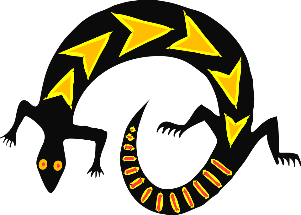 Free vector graphic: Lizard, Black, Style, Gold, Reptile.