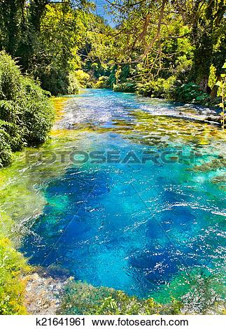 Stock Photography of Blue Eye is a water spring in Delvine.