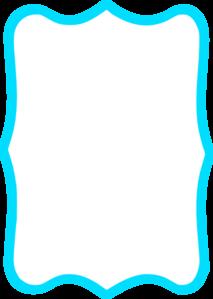 Blue Square Frame Clipart.