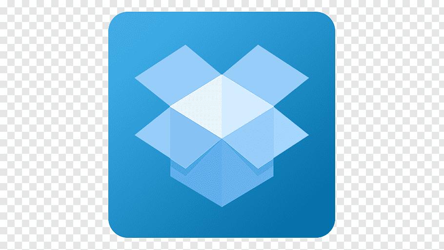 Dropbox logo, electric blue square angle symmetry, Dropbox.