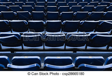 Pictures of Blue stadium chairs.