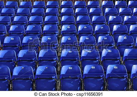 Stock Photographs of stadium seating.