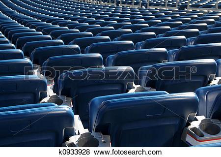 Stock Illustration of Blue Stadium Seats k0933928.