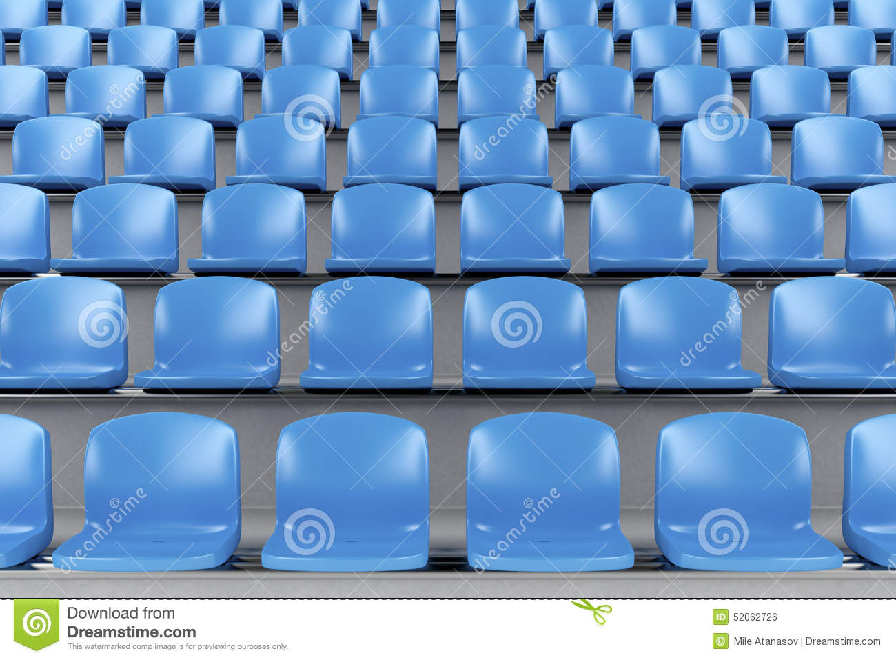 Blue Stadium Chairs Stock Illustrations.