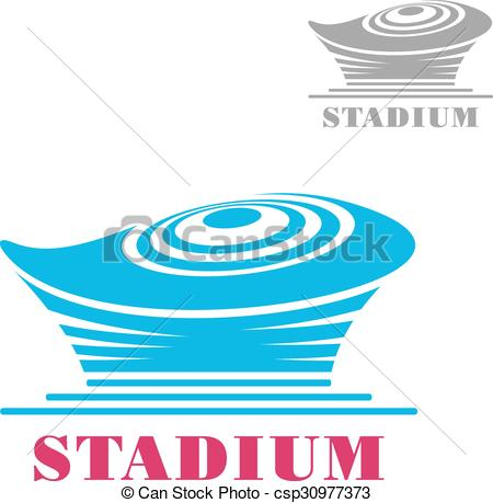 Vectors Illustration of Modern blue stadium or arena icon.