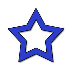 Free clipart blue star.