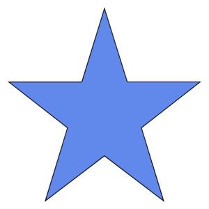 Blue Star Clip Art.
