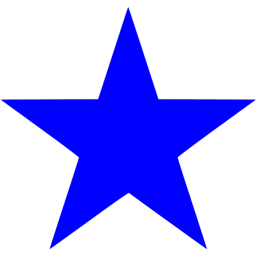 Blue star icon.