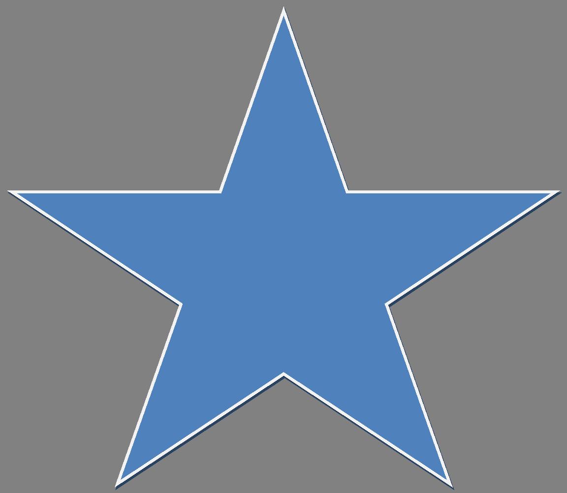 Blue Star PNG Image.