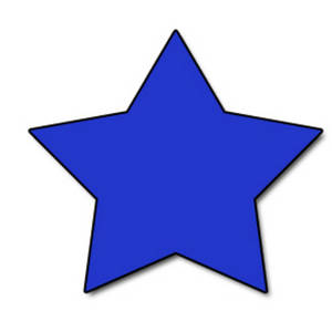 Clipart Picture of a Blue Star.