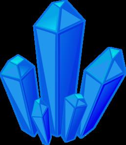 Blue Gem Stones clip art.