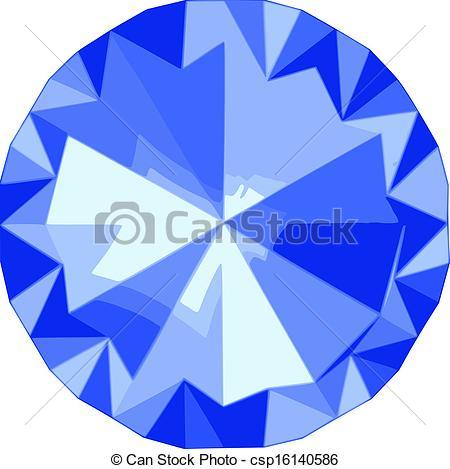 Vector of The Blue diamond jewel stone icon csp16140586.