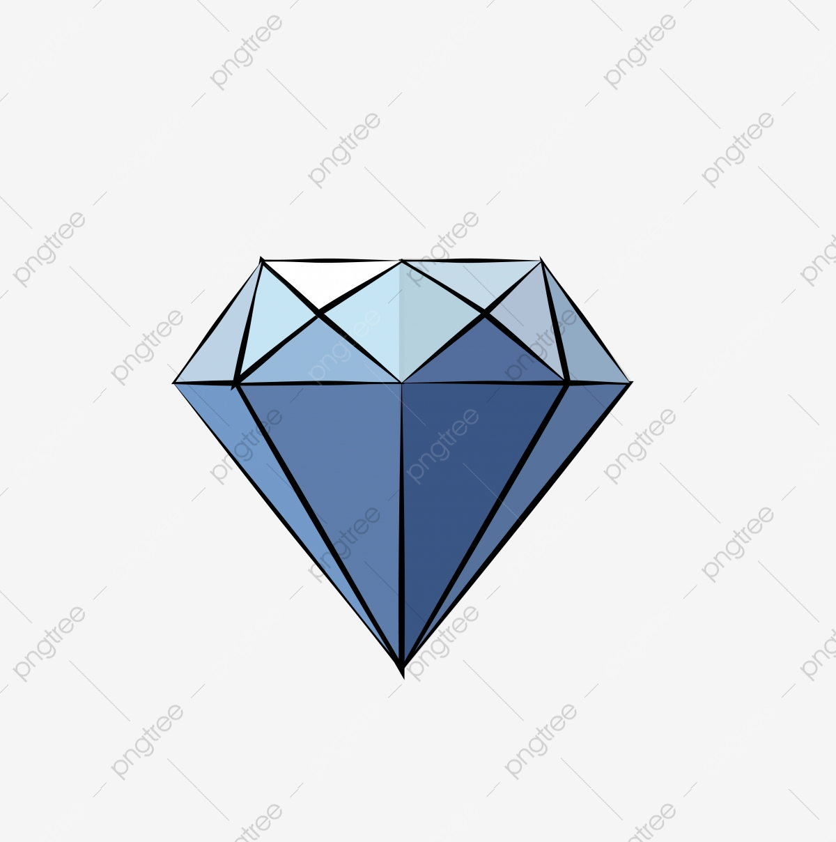Cartoon Diamond Diamond Drill Blue Diamond, Jewelry, Gem, Stone PNG.