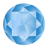 Clipart of Black and white outline of a diamond stone.