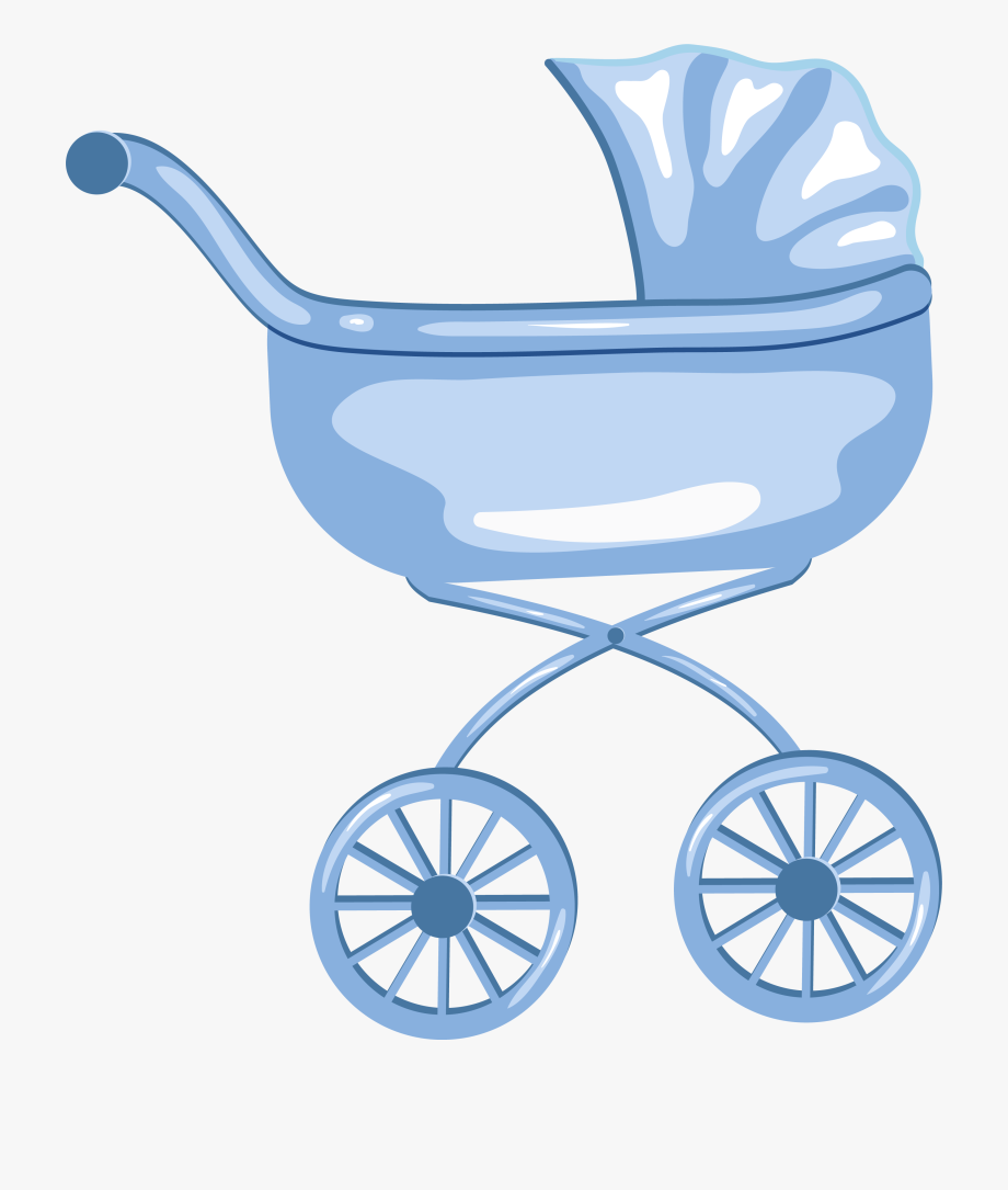 Blue Baby Carriage Clipart.
