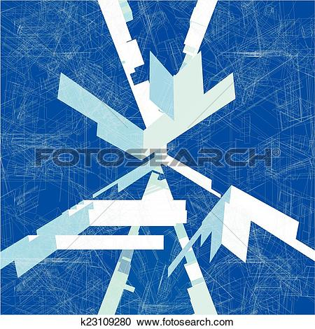 Clipart of Mosaic Wire Net Blue Structure k23109280.