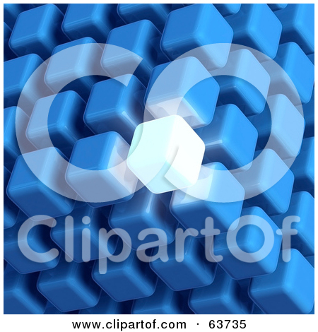 Clipart Illustration of a Blue And Gold Cubic Diagramatic.