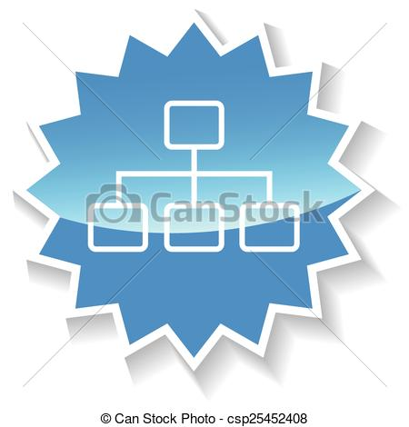 Vector Clipart of Structure blue icon.