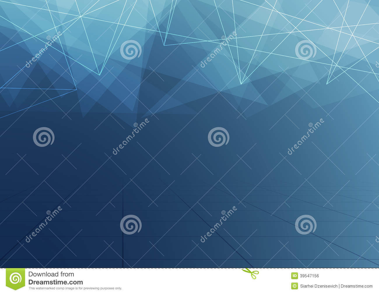 Abstract Crystal Dark Blue Structure Background Stock Vector.