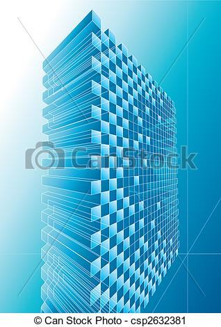 Vector Clip Art of Blue Structure Abstract.