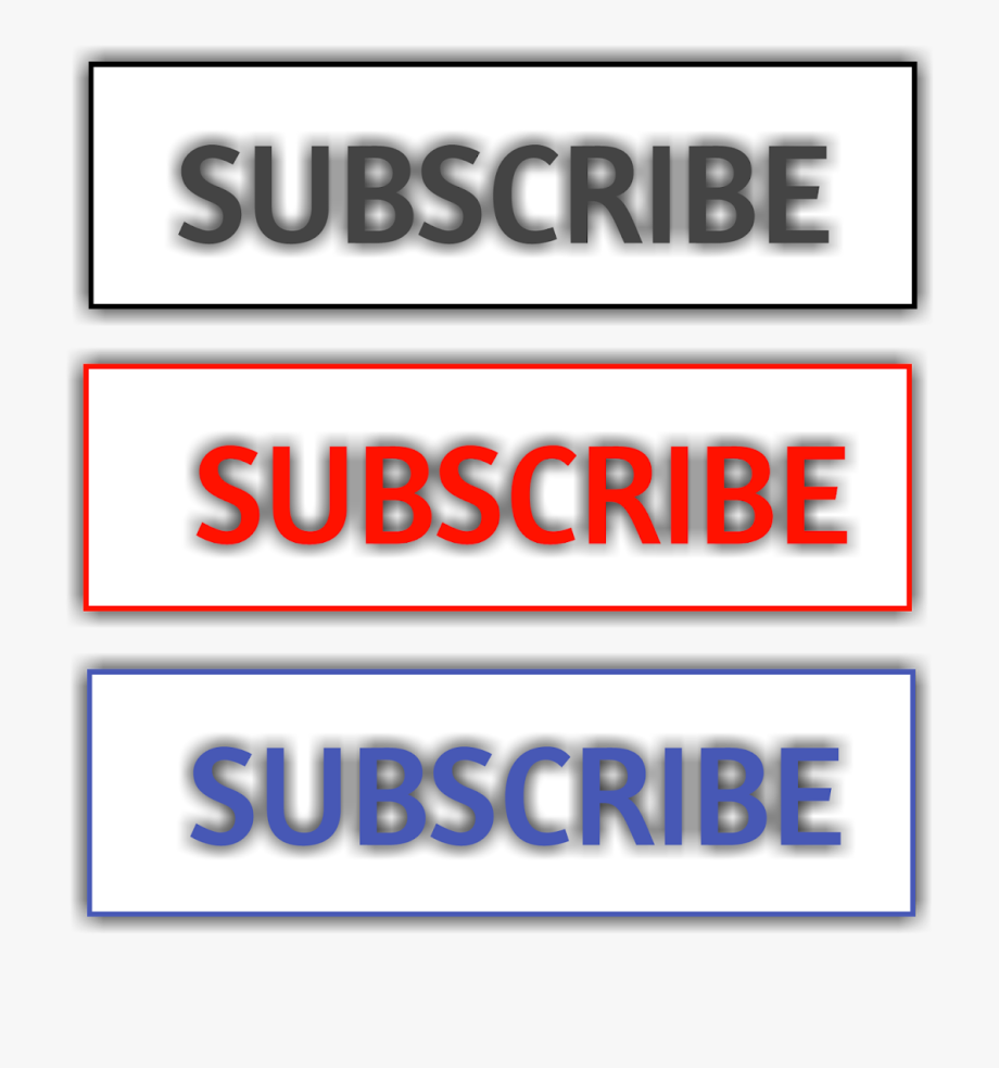 Blue Subscribe Button Png.