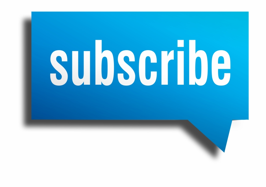 Blue Subscribe Png.