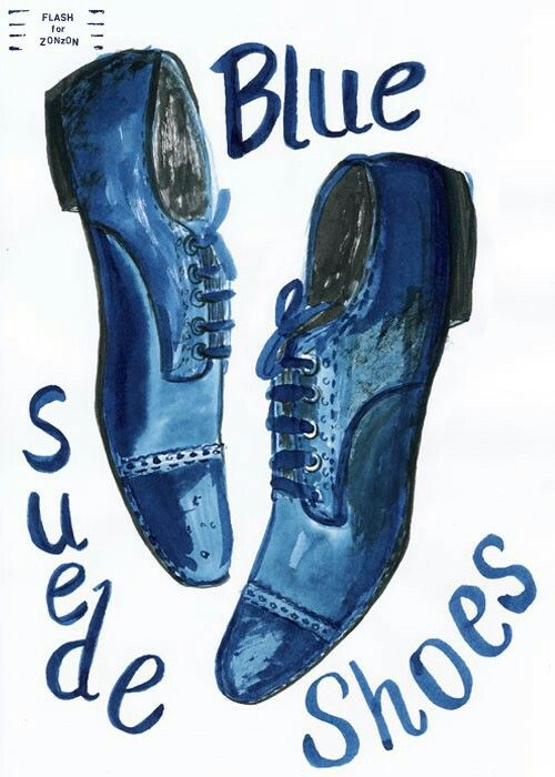 Elvis clipart blue suede shoe, Elvis blue suede shoe.