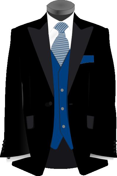 Blue And Black Suit Clip Art at Clker.com.