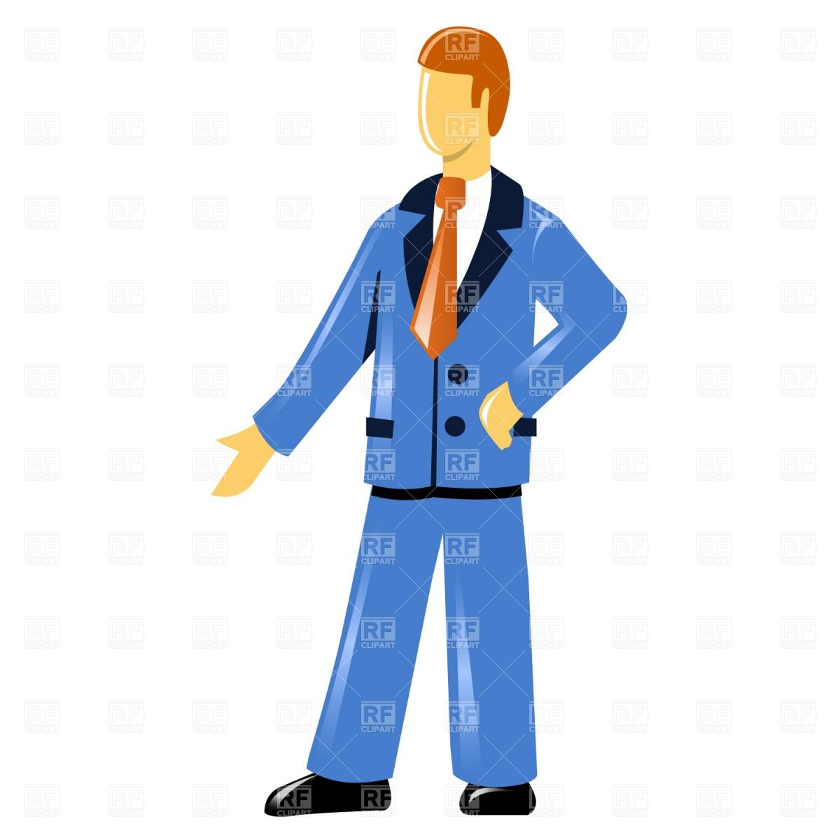Blue Suit Clipart.
