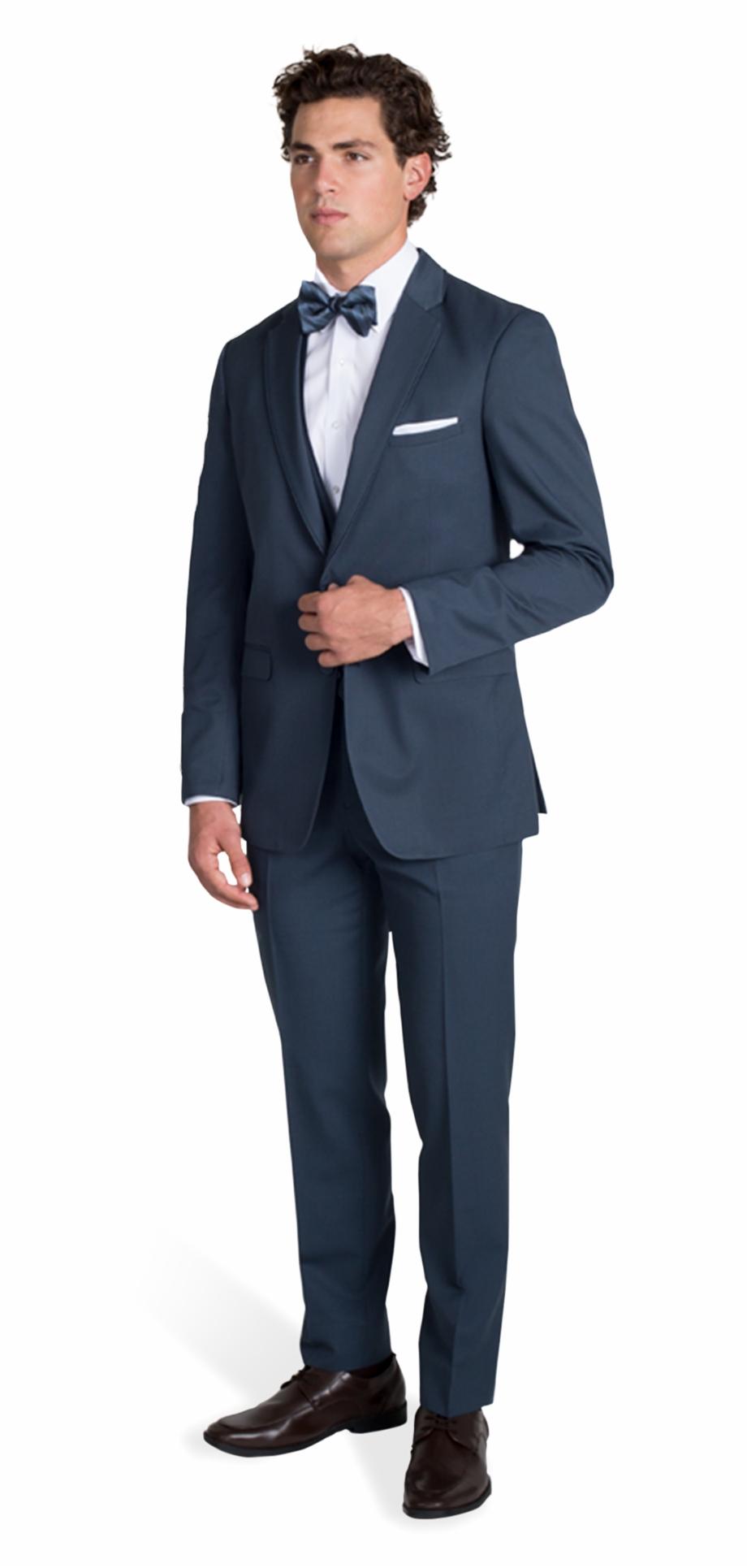 Slate Blue Suit By Allure Men.