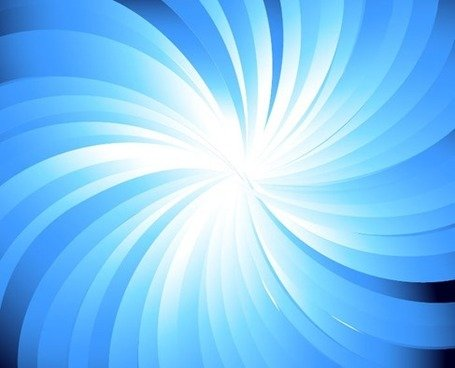 Blue Sunburst Abstract Vector Background Graphic Clipart Picture.