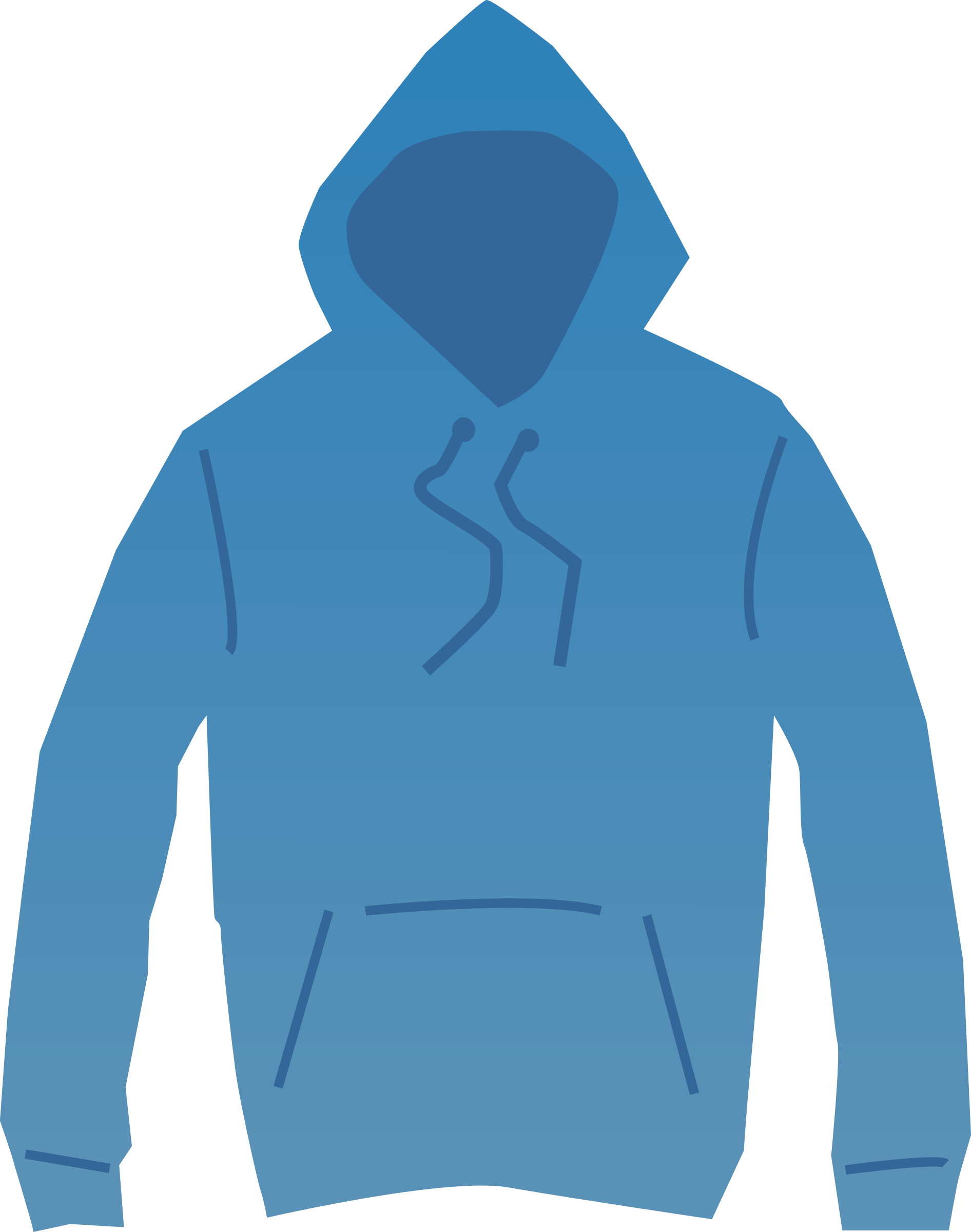 Bluw Hoodie Clipart.