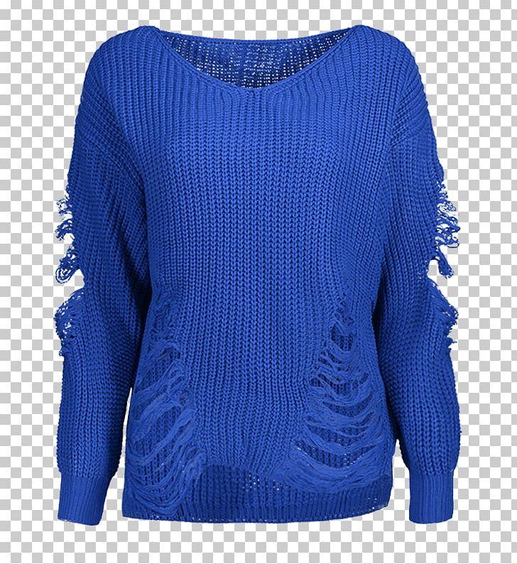 Cobalt Blue Sweater Shoulder Wool PNG, Clipart, Active Shirt.