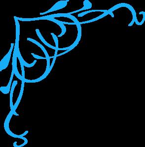 Blue Swirl Heart Clip Art at Clker.