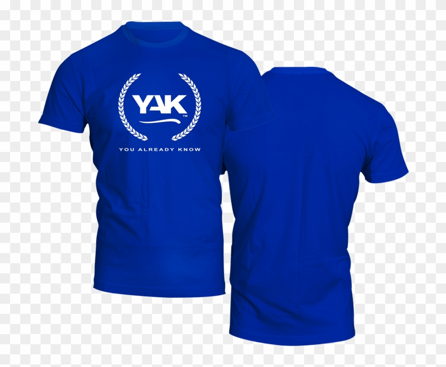 Royal Blue Shirt Front And Back Clipart (#803643).