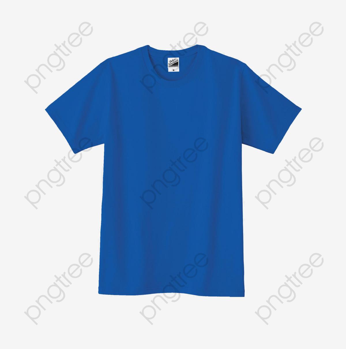 Blue T Shirt, Solid T Shirt, T Shirt, Clothing PNG Transparent Image.