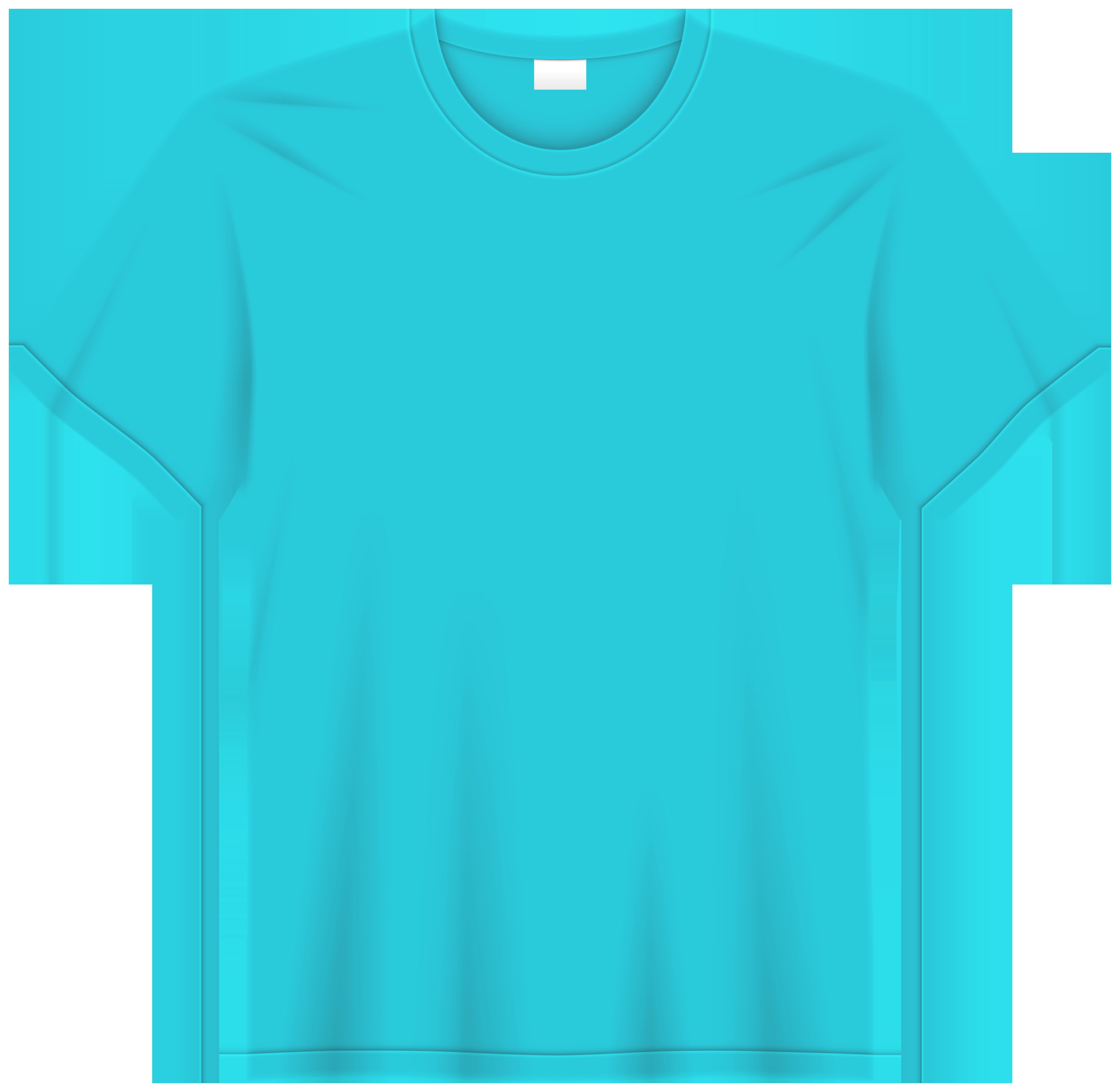 Sky Blue T Shirt PNG Clip Art.