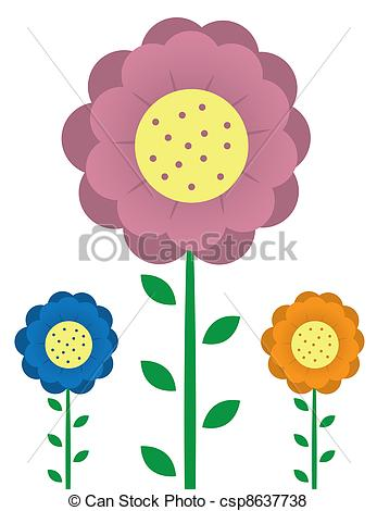 Vector of Tall Flowers.