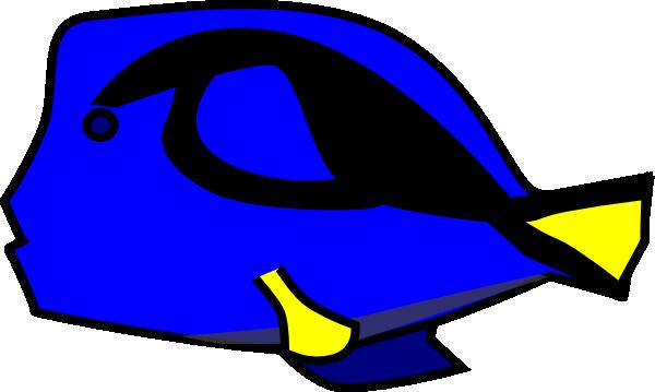 Blue Tang 2 Clip Art at Clker.com.