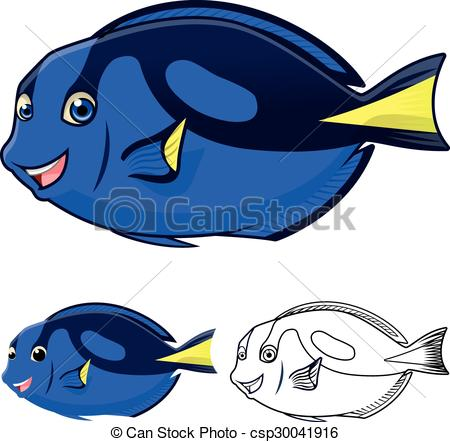 Regal Blue Tang Cartoon.