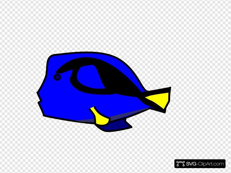Blue Tang 2 Clip art, Icon and SVG.