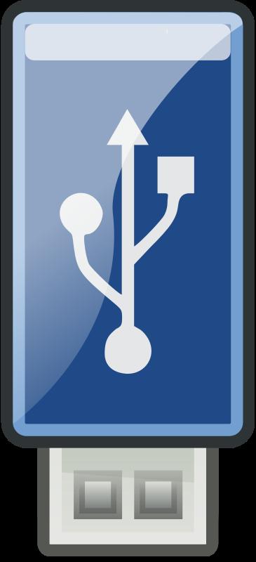 Free Clipart: USB Blue.