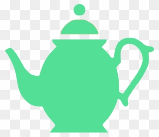 Teapot Clipart Blue.