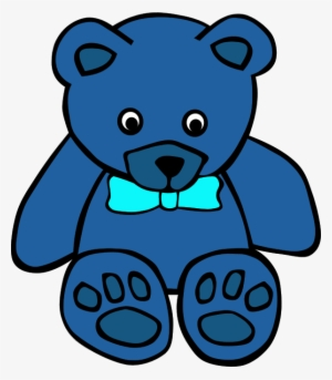 Blue Teddy Bear PNG Images.