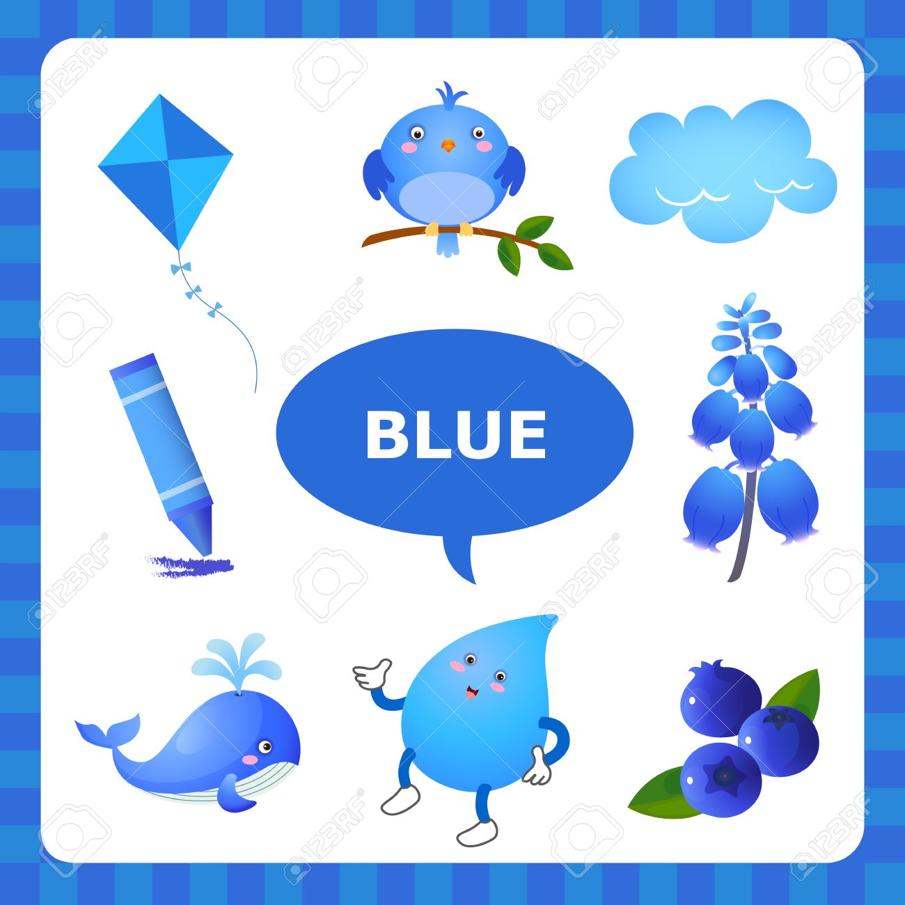 Learn The Color Blue things that are blue color.