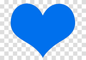 Blue Things, blue heart illustration transparent background PNG.