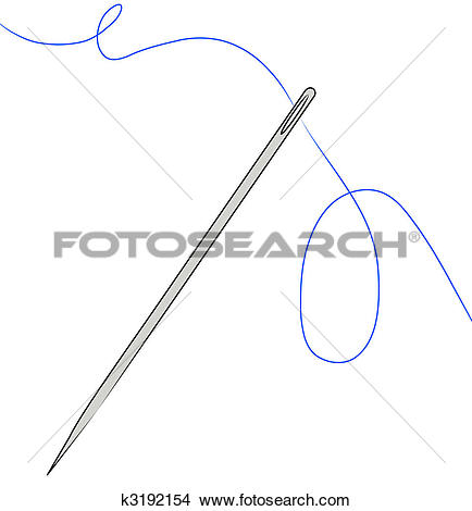 Drawings of needle with blue thread strung through k3192154.