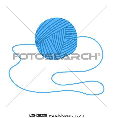 Clip Art of Tangle blue thread k25438206.